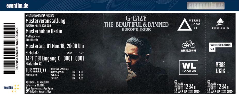 G-Eazy Karten für ihre Events 2018