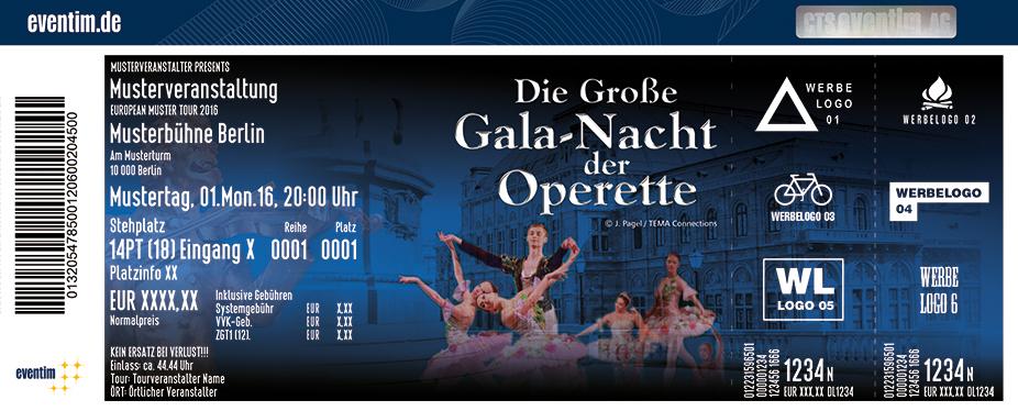 Karten für Die Große Gala-Nacht der Operette in Nürnberg