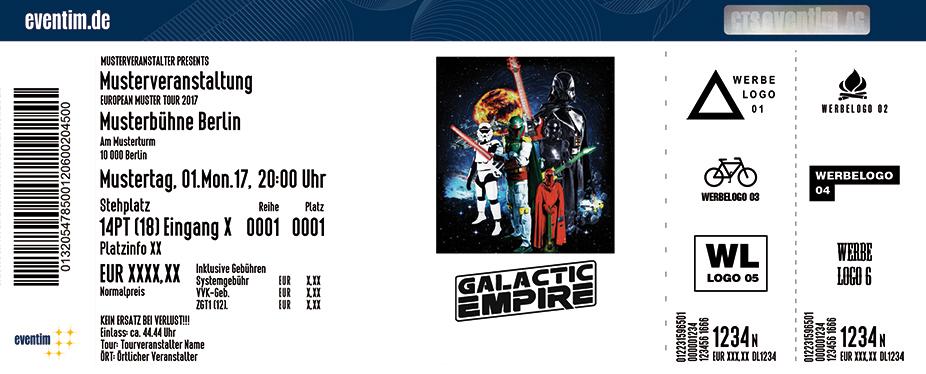 Galactic Empire Karten für ihre Events 2017