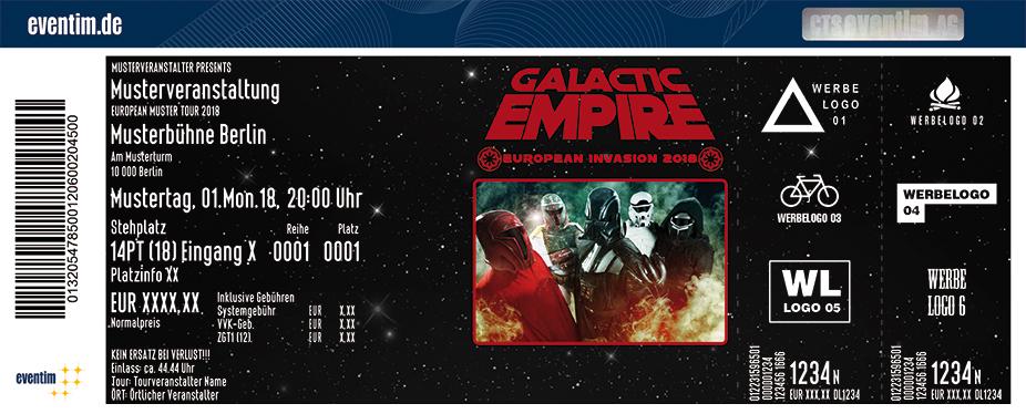 Galactic Empire Karten für ihre Events 2018