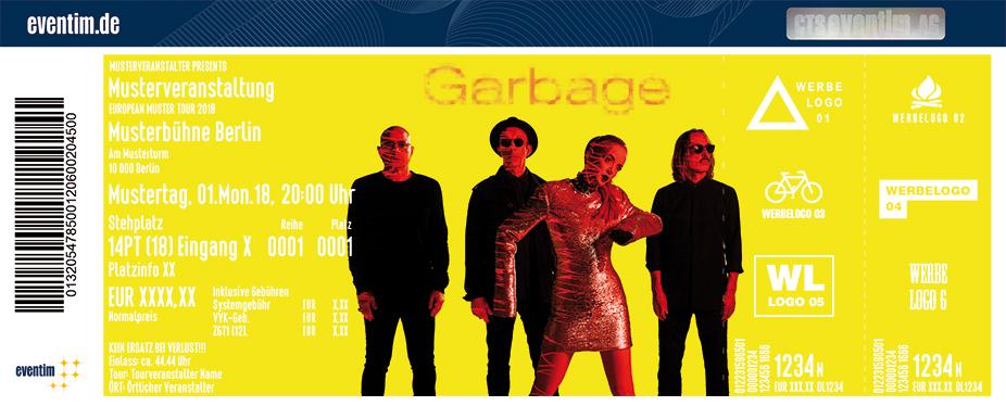Garbage Karten für ihre Events 2018