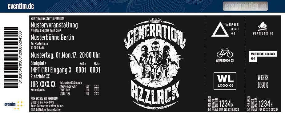 Karten für Generation Azzlack Tour 2017 in Essen