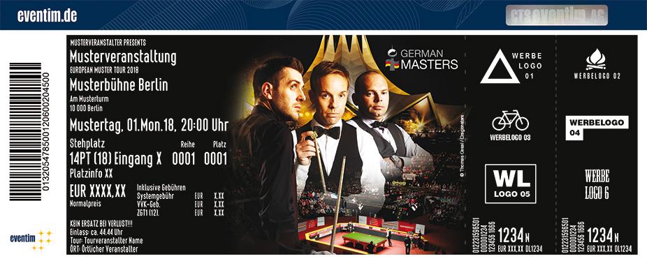 Snooker: German Masters Karten für ihre Events 2018