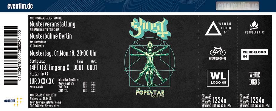 Ghost Karten für ihre Events 2017