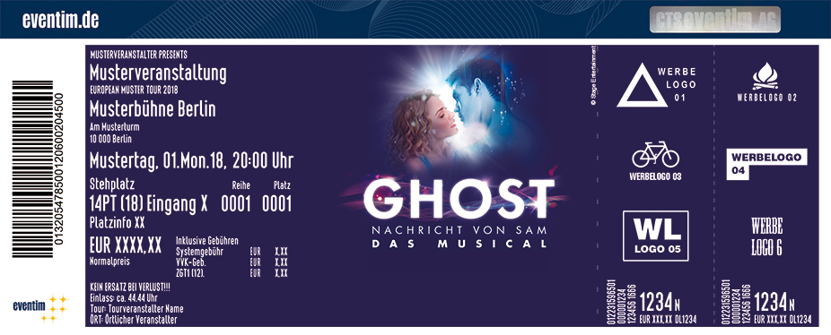 Karten für GHOST - Das Musical in Hamburg in Hamburg