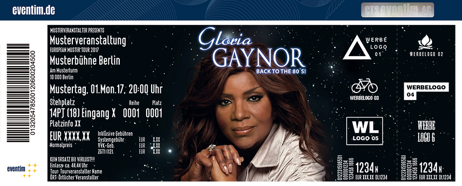 Karten für Gloria Gaynor: Back to the 80's in Siegburg
