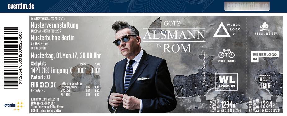 Karten für Götz Alsmann ... in Rom in Freyburg/unstrut