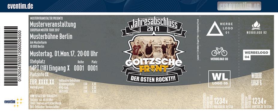 Karten für Goitzsche Front & Friends in Dresden