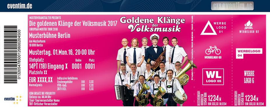 Karten für Die goldenen Klänge der Volksmusik 2017 in Bad Langensalza