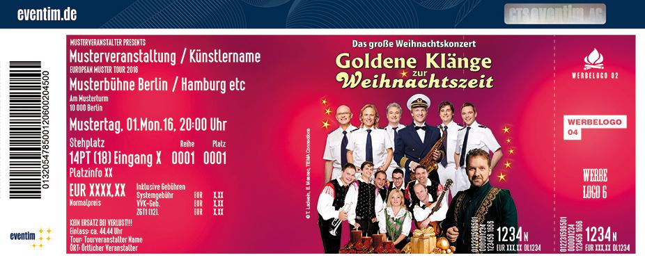 Karten für Die goldenen Klänge zur Weihnachtszeit 2017 in Bernburg