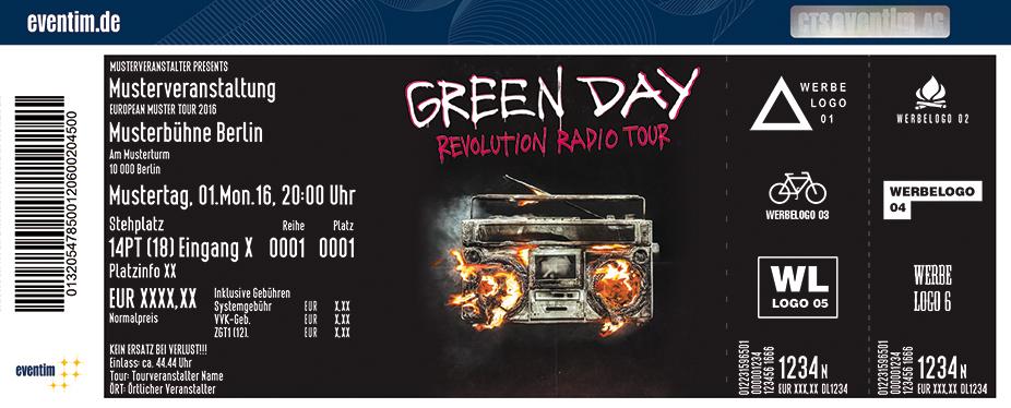 Green Day Karten für ihre Events 2017