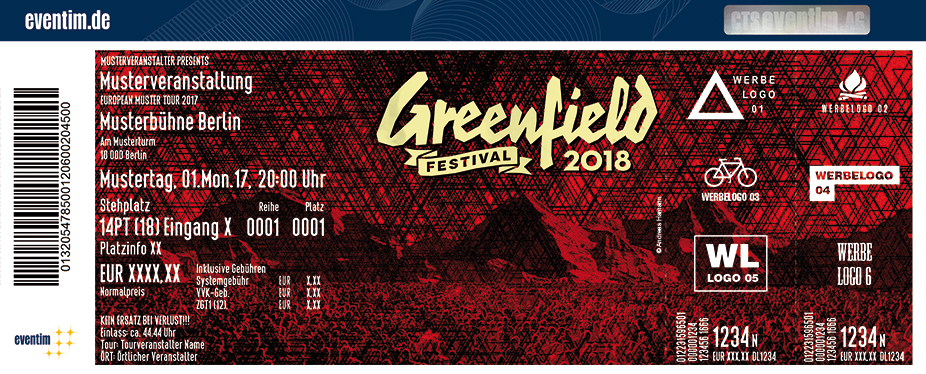 Greenfield Festival Karten für ihre Events 2018