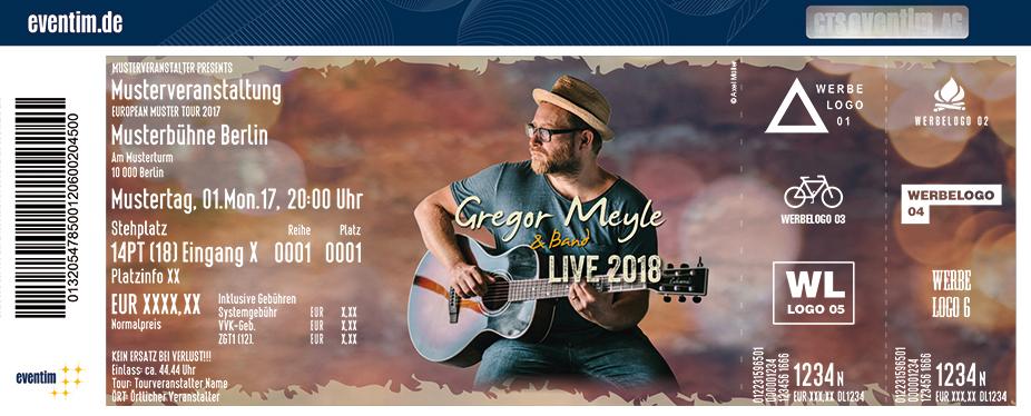 Karten für Gregor Meyle - Live 2018 in Leipzig