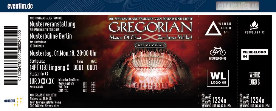 Gregorian Karten für ihre Events 2017