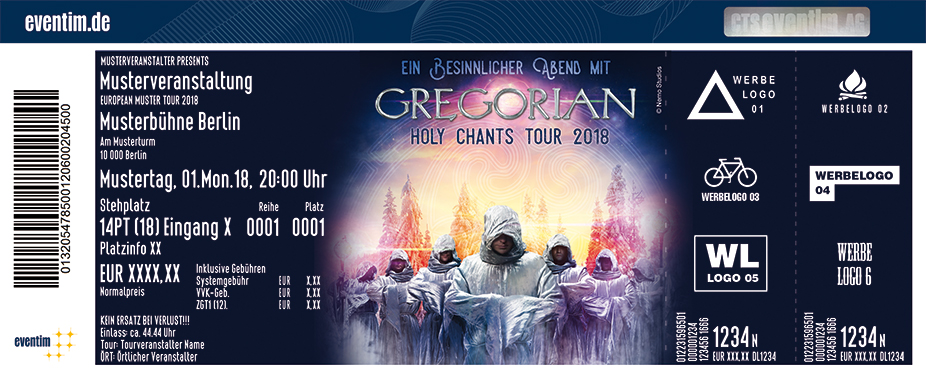 Karten für GREGORIAN - Holy Chants Tour 2018 in Berlin