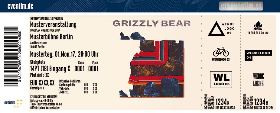 Grizzly Bear Karten für ihre Events 2017