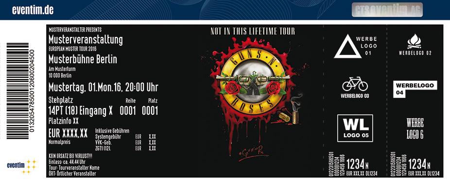 Guns N' Roses Karten für ihre Events 2017