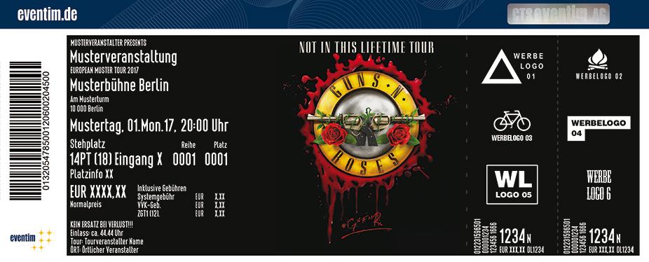 Guns N' Roses Karten für ihre Events 2018