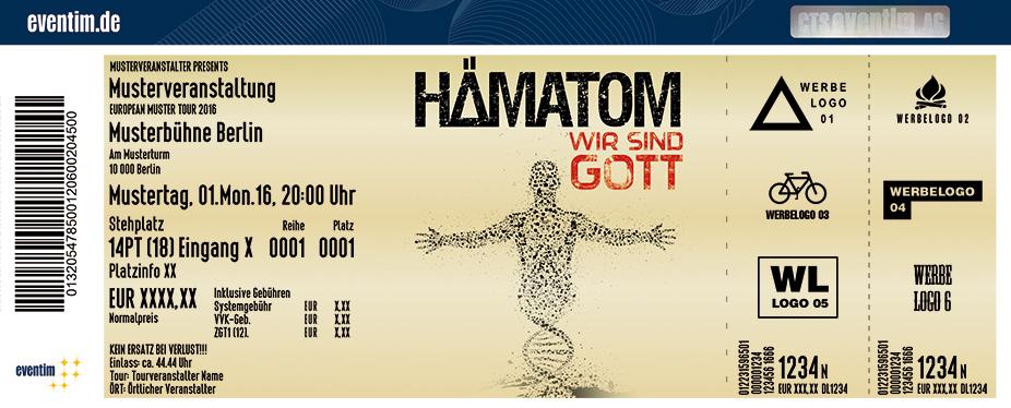 Hämatom Karten für ihre Events 2017