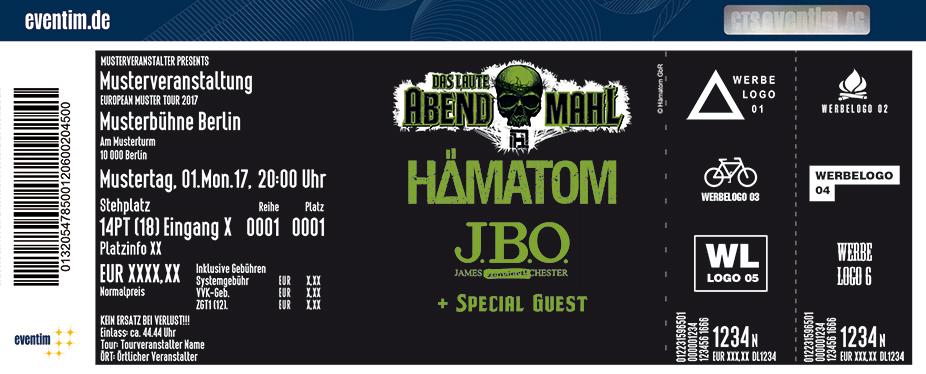 Karten für Hämatom & JBO - Das laute Abendmahl 2018 in Bremen - Hemelingen