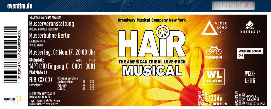 Karten für Hair - The American Tribal Love-Rock Musical in München