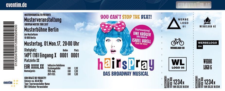 Karten für Hairspray - Das Broadway Musical in Hamburg