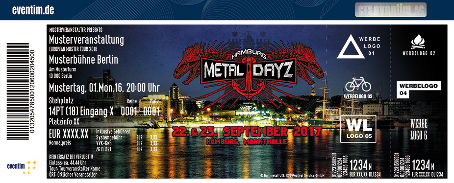 Hamburg Metal Dayz Karten für ihre Events 2017