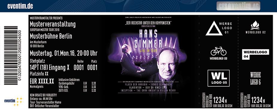 Hans Zimmer Karten für ihre Events 2017
