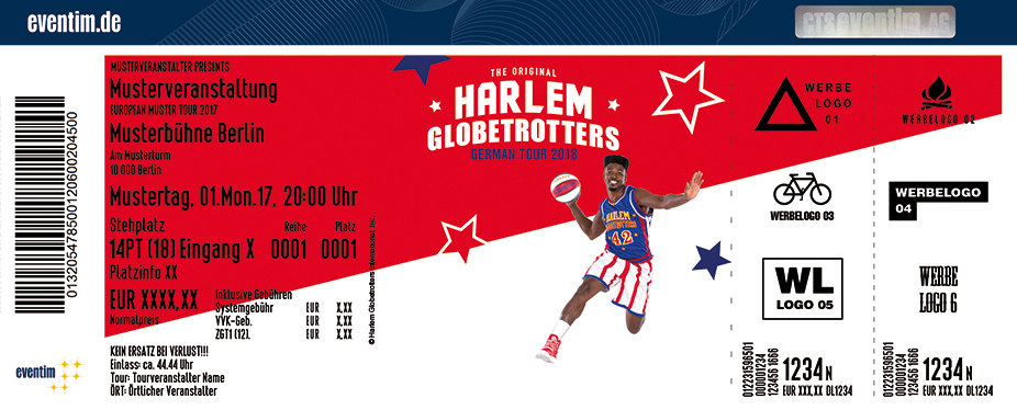Karten für Harlem Globetrotters: German Tour 2018 in Frankfurt / Unterliederbach