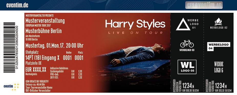 Karten für Harry Styles - Live 2017 in Köln