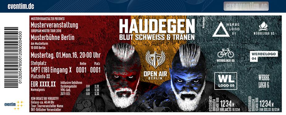 Haudegen Karten für ihre Events 2017