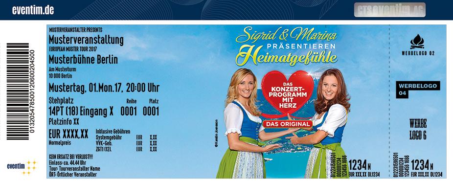 Karten für Sigrid & Marina präsentieren:  Heimatgefühle 2018 - Das Konzertprogramm mit Herz in Eilenburg
