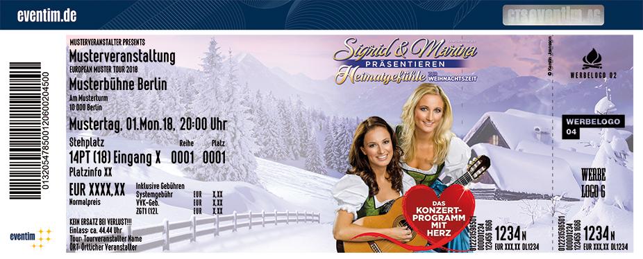 Sigrid & Marina Karten für ihre Events 2018