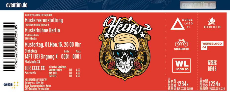 Heino Karten für ihre Events 2017