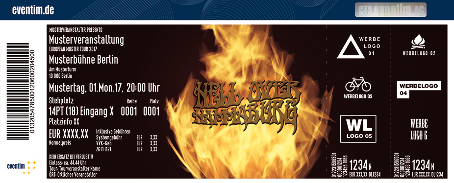 Hell Over Hammaburg Karten für ihre Events 2017