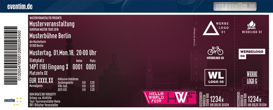 Karten für Hello World Fest 2018 in Dortmund