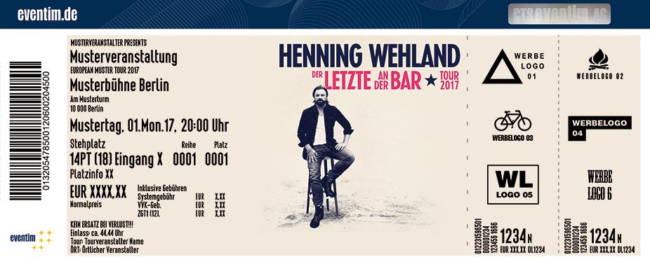 Karten für Henning Wehland in München