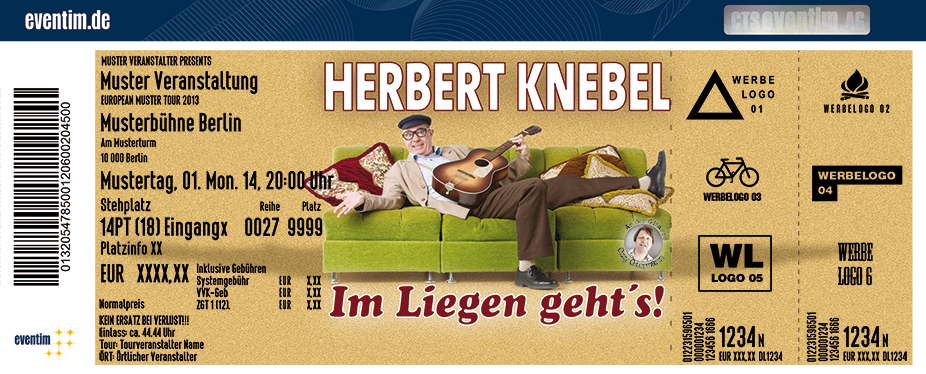 Karten für Herbert Knebel Solo: Im Liegen geht's! in Herzogenrath