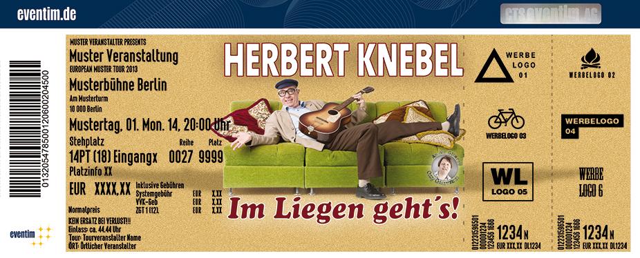 Karten für Herbert Knebel Solo: Im Liegen geht's! in Menden