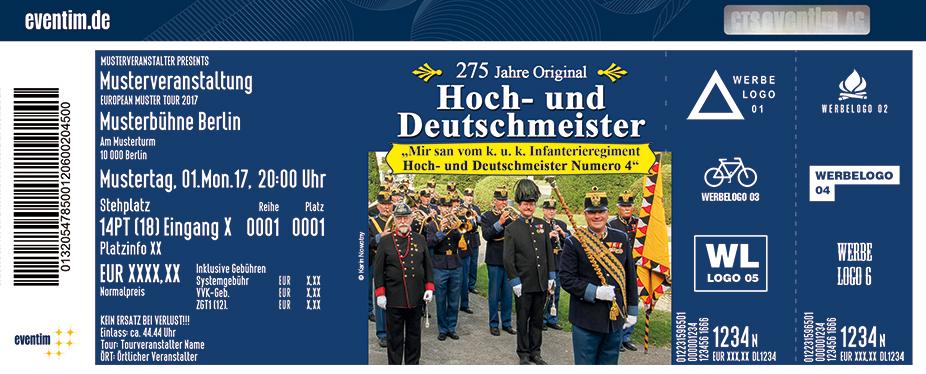 Original Hoch- Und Deutschmeister Karten für ihre Events 2018