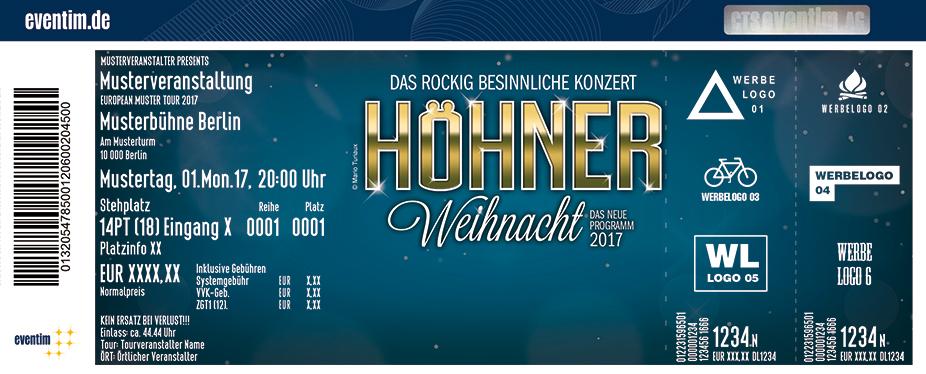Karten für Höhner Weihnacht 2017 in Bergheim
