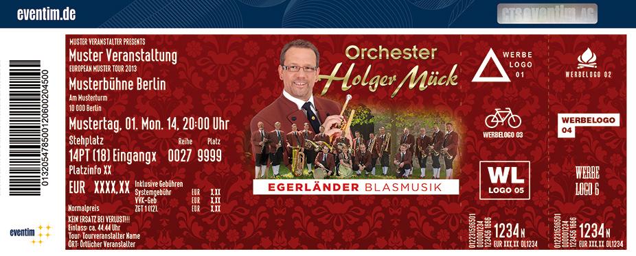 Karten für Holger Mück und Egerländer Musikanten in Oer-Erkenschwick
