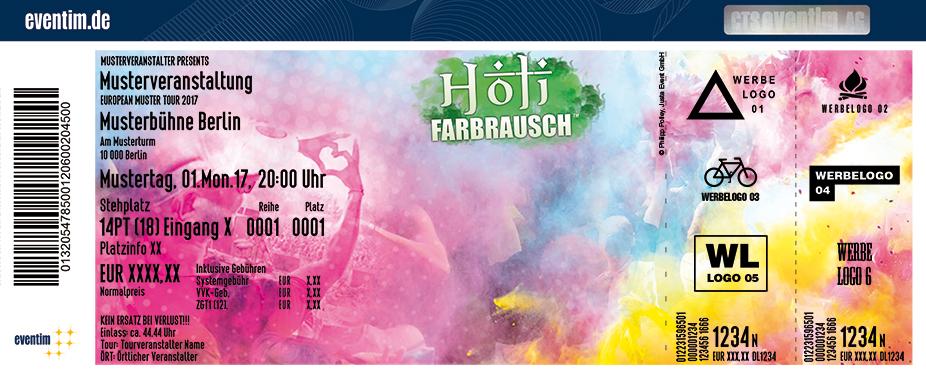 Holi Farbrausch Karten für ihre Events 2018