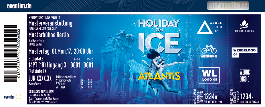 Karten für Holiday on Ice - ATLANTIS 2017 in Grefrath in Grefrath