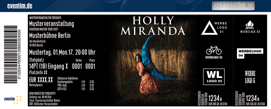 Holly Miranda Karten für ihre Events 2017