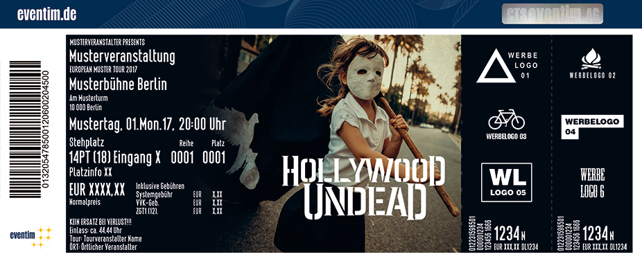 Karten für Hollywood Undead in Hamburg