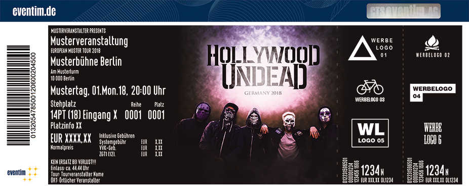 Karten für Hollywood Undead in Hannover