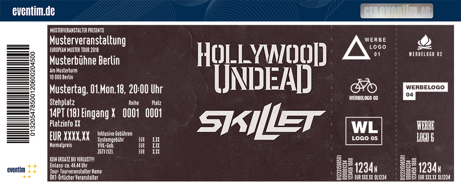 Karten für Hollywood Undead in Ludwigsburg
