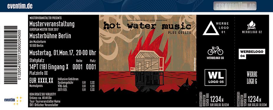 Hot Water Music Karten für ihre Events 2017