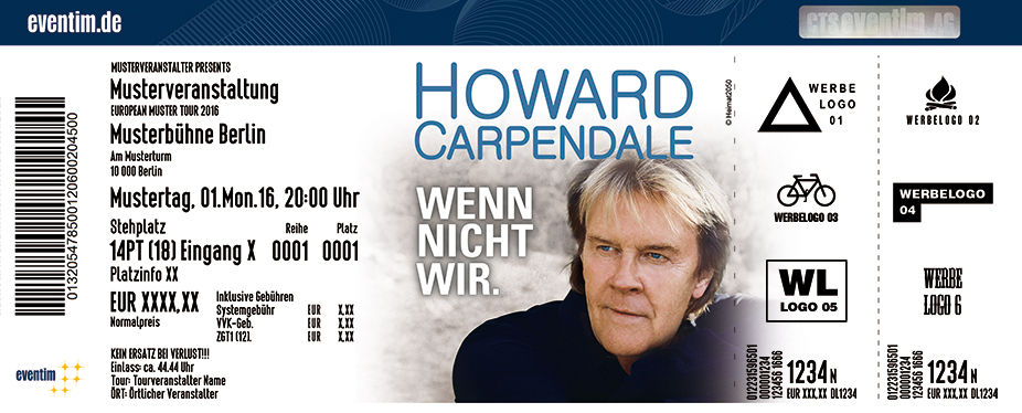 Karten für Howard Carpendale - Live 2017/2018 in Frankfurt / Main